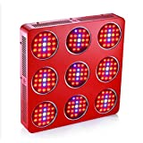 GOWE S9 1800W Double Chips LED Grow Light Full Spectrum 380-730nm Advanced Penetration Lens Design,Magnified PAR