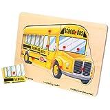 """: School Bus """"Easy Grip"""" Peg Puzzle"""