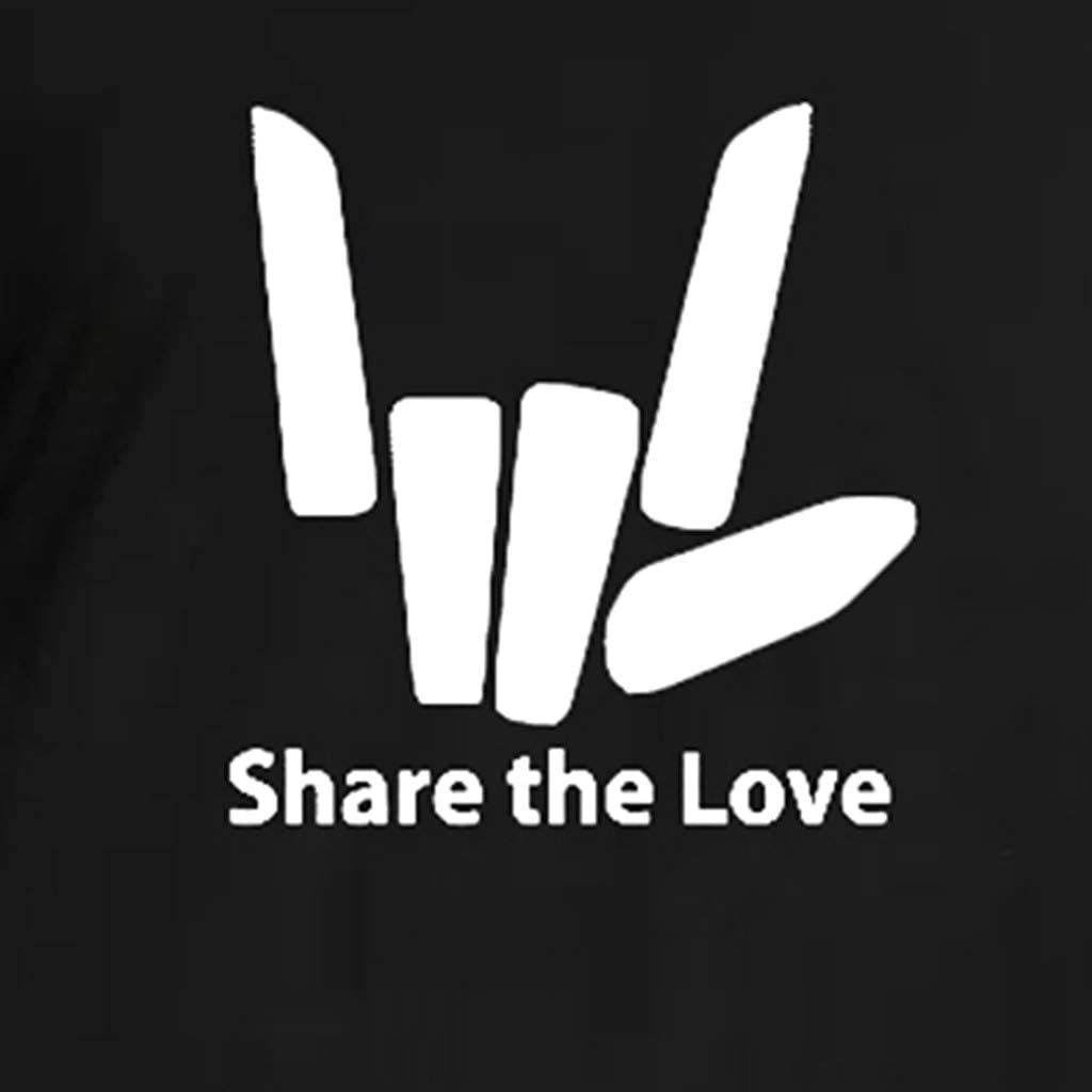 Share The Love Loose Blouse Short Sleeve Mens T-Shirt Indie Design
