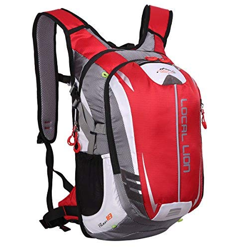 LOCALLION Cycling Backpack Riding Backpack Bike Rucksack Outdoor Sports Daypack for Running Hiking Camping Travelling Ultralight Men Women 18L Red