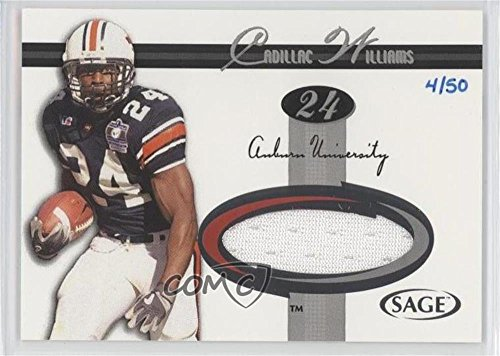 Cadillac Williams #4/50 Cadillac Williams (Football Card) 2005 SAGE - Jerseys - Silver #J24 ()