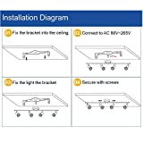 DLLT Modern LED 4 Light Track Lighting Kit, Flush