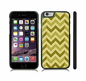 iStar Cases? iPhone 6 Plus Case with Chevron Pattern Olive/ Light Olive/ Lime Stripe , Snap-on Cover, Hard Carrying Case (Black)