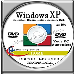 WINDOWS XP SYSTEM REPAIR & RE-INSTALL 32 Bit BOOT DISK: Repair & Re-install Windows XP HOME (Repair-Restore-Reinstall)