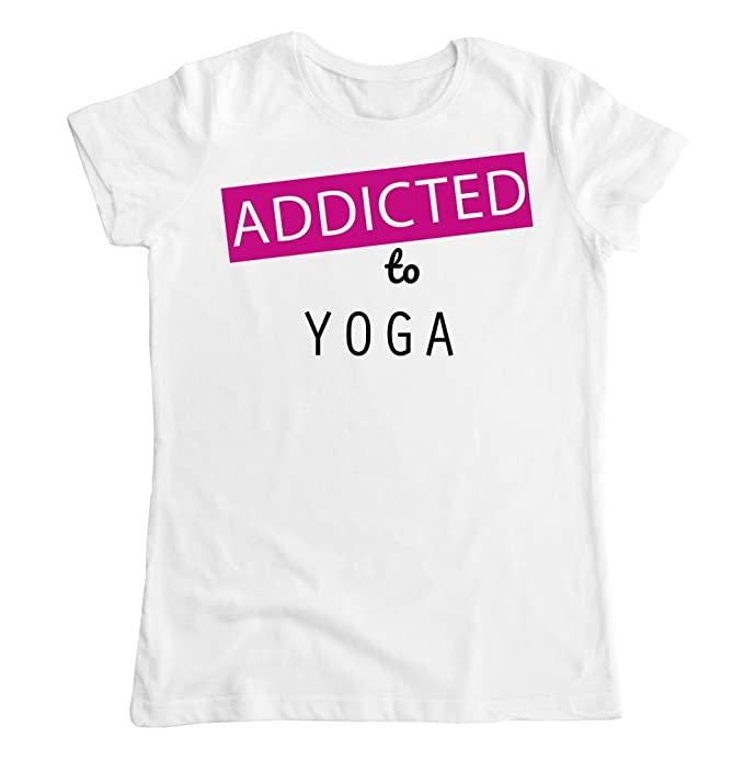 graphke Addicted To Yoga Camiseta para Mujer XX-Large: Amazon.es: Ropa y accesorios