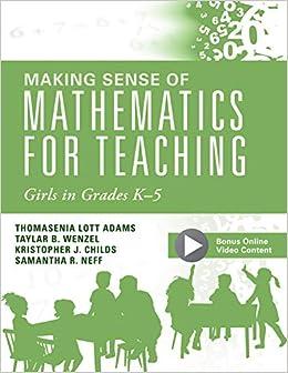Amazon.com: Making Sense of Mathematics for Teaching Girls ...