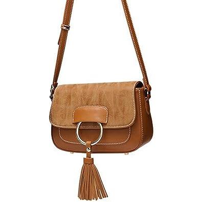 6835bd8514 Amazon.com  New Ladies Handbag Shoulder Sling Bag Women s Fringe Style  Leather Tote Bags (Brown)  Shoes