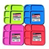 Divided Lunch Tray Bundle-Set of 4 Kids colorful