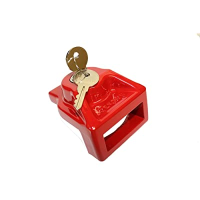 JENDYK GHAL-KA Red Aluminum Glad Hand Lock (Keyed Alike), 1 Pack: Automotive