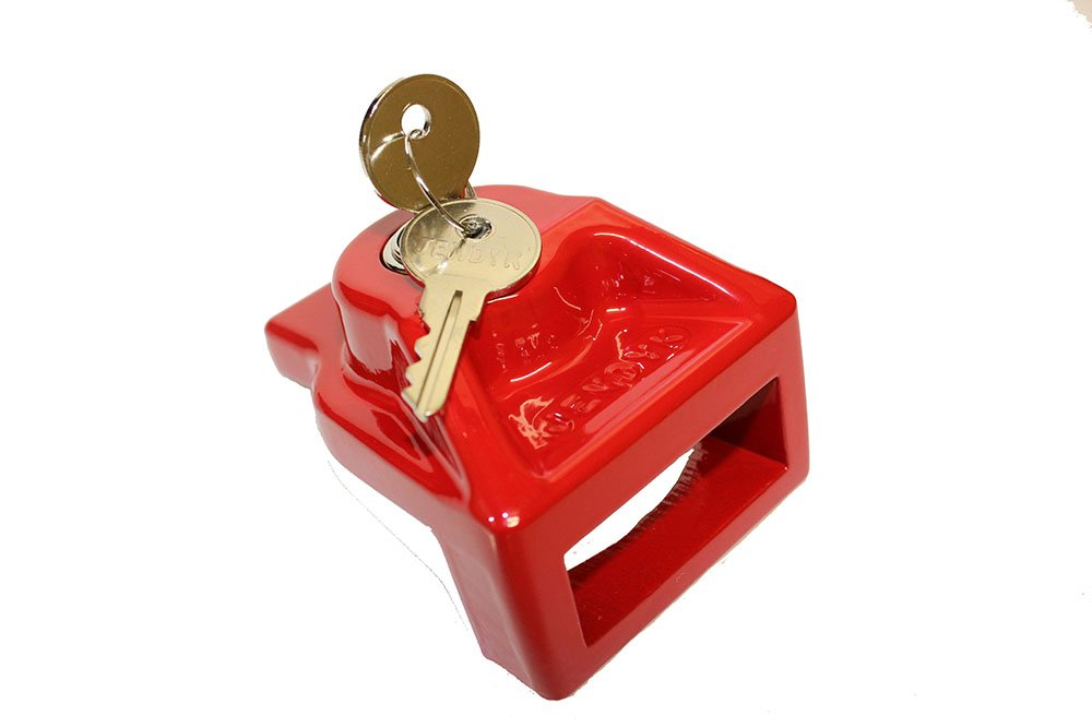 JENDYK GHAL-KA Red Aluminum Glad Hand Lock (Keyed Alike)