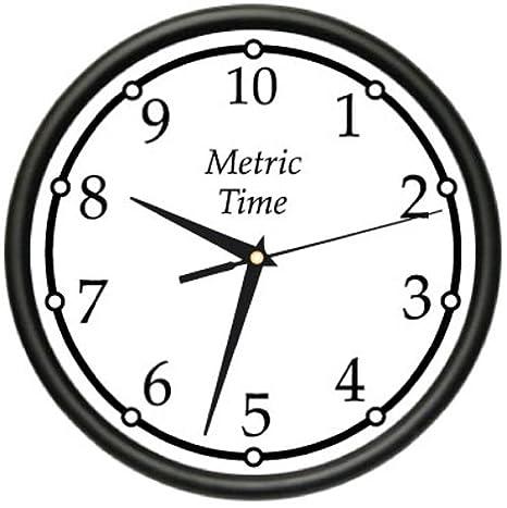 Amazon.com: Métricas Tiempo Reloj de pared sistema métrico ...