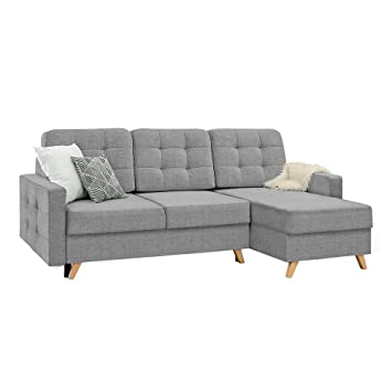 Selsey VELVET - Corner Sofa Lounge / TV Lounge Sofa with Chaise ...