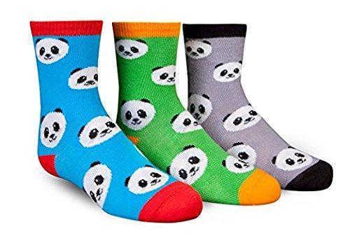 Trumpette PEPPER PANDA Kid Socks 3 prs Size Medium 4-7 yrs gift Multi-color
