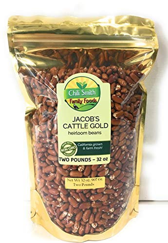 Jacobs Cattle Gold Heirloom Beans All Natural Non GMO 2 POUNDS Used often for Boston Style Baked Beans