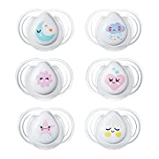 Tommee Tippee Newborn Night Time Pacifier, 0-2 Months, 2 Count (Colors will vary)