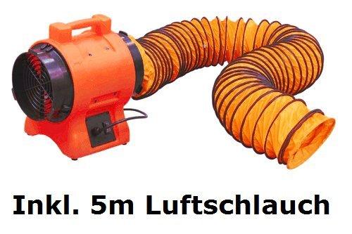 Axial ventilator & 5m schlauch bautrockner lüfter trockner bau