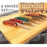 Set 6 Knife,Personalized knife,engraved knife,custom knife,pocket knife,groomsmen gift,folding knife,engraved knives,personalized knives