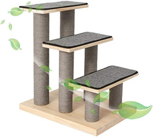 Escalera Mascota RZBAO De Madera Escaleras De Mascotas De 3 Pasos De Escalera For Mascotas Perro Gato Escaleras Fácil con Desmontable Alfombra For Alta Cama Y Un Sofá: Amazon.es: Hogar