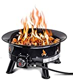Outland Firebowl 883 Mega Outdoor Propane Gas Fire Pit with UV and Weather Resistant Durable Cover, 24-Inch Diameter 58,000 BTU