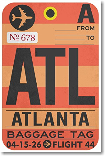 ATL - Atlanta Airport Tag - NEW Travel Poster