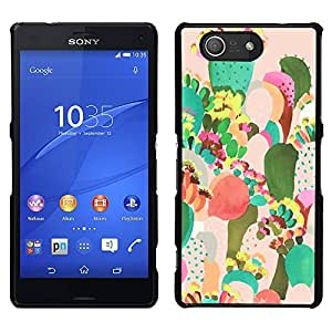 For Sony Xperia Z3 Compact , S-type® Painting Colorful Mexico Art - Arte & diseño plástico duro Fundas Cover Cubre Hard Case Cover