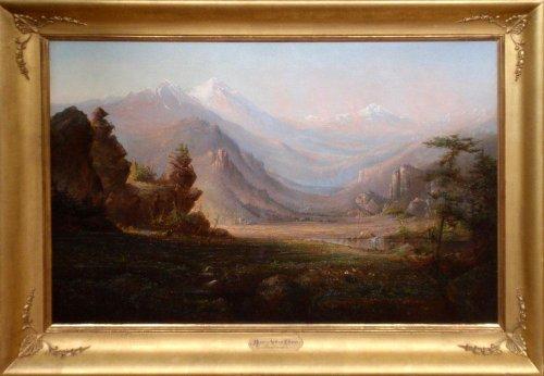 Indian Encampment. Estes Park, Colorado (oil painting)