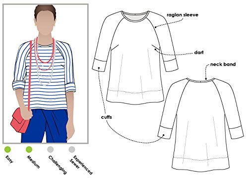 Style Arc Sewing Pattern - Maddison Top (Sizes 18-30) - Click for Other Sizes -