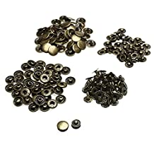 Trimming Shop 10 X 12.5Mm Bronze Set Of Snap Fasteners For Clothing And Accessories - Press Studs For Adding Secure Closure To Jackets, Jeans And Other Sewing Projects - Popper For Clothes Repair