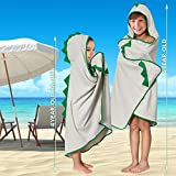 Kids Hooded Towels/Dino Spikes Bath Beach Towel for