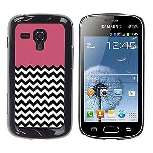 - Chevron Pattern V shapes - - Monedero pared Design Premium cuero del tirš®n magnšŠtico delgado del caso de la cubierta pata de ca FOR Samsung GALAXY Trend Duos S7562 Funny House