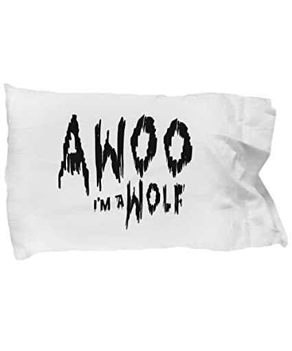 Amazon.com: Pillow Covers Design Awoo I'm A Wolf Halloween Costume on night dress costume, ice pack costume, bookcase costume, fishing pole costume, hairbrush costume, toilet paper costume, padding costume, sleep mask costume, book cover costume, jurassic park dinosaur costume, hat costume, stuffed bear costume, pocketbook costume, tackle box costume, comb costume, armless costume, scrubbie costume, baby wrap costume, pillowcase head costume, donut maker costume,