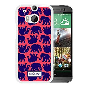 Lilly Pulitzer 17 White Fantastic Style Design HTC ONE M8 Case