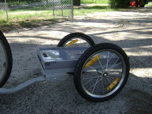 i10Direct Cargo Bicycle Trailer Gray with Removable Plastic Bin