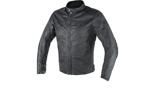 Amazon.com: Dainese Archivio D1 Leather Jacket Black 48 Euro/38 USA: Automotive