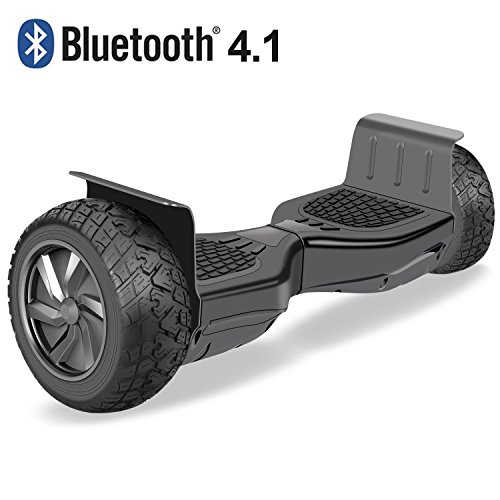 VEEKO Hoverboard Two-wheel Self-balancing Scooter with Bluetooth Speaker 8.5''All-Terrain Off-Road Hover Board,Alloy Wheels,250W Dual Motor for 15Km/hr Max Speed and 264lbs Max Weight
