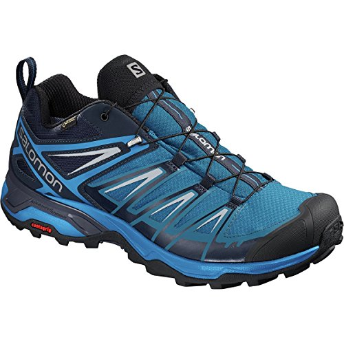 Mid Backpacking Gtx Boot (Salomon X Ultra 3 GTX Hiking Shoe - Men's Mykonos Blue/Indigo Bunting/Pearl Blue, US 9.5/UK 9.0)