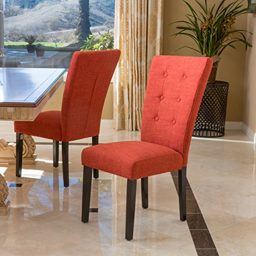 Christopher Knight Home 296541 Angelina Dining Chair (Set of 2), Deep Orange