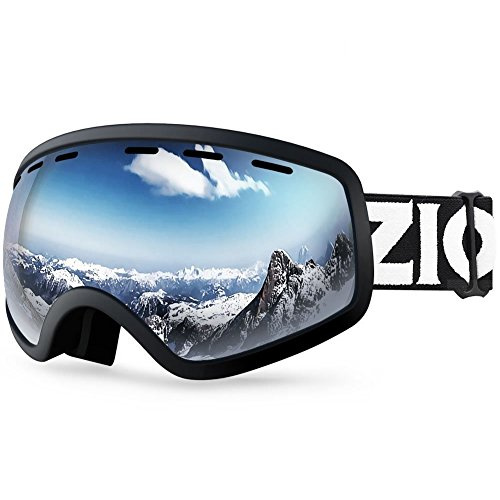 Snowmobile Ski - Zionor Lagopus X Mini Kids Snowmobile Snowboard Skate Ski Goggles with 100% UV Protection Anti-fog Detachable Wide Angle Double Panoramic Lens for Youth