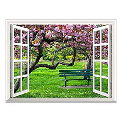 Removable Wall Sticker/Wall Mural - Cherry Blossom in Spring   Creative Window View Wall Decor - 36
