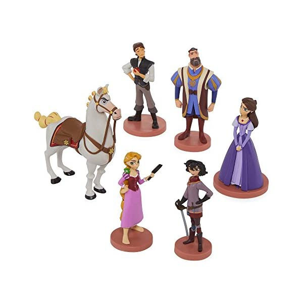 51XMaA5fjvL Disney Collection Tangled: The Series Rapunzel 6 piece Figurine Playset Figure Play Set or Cake Topper