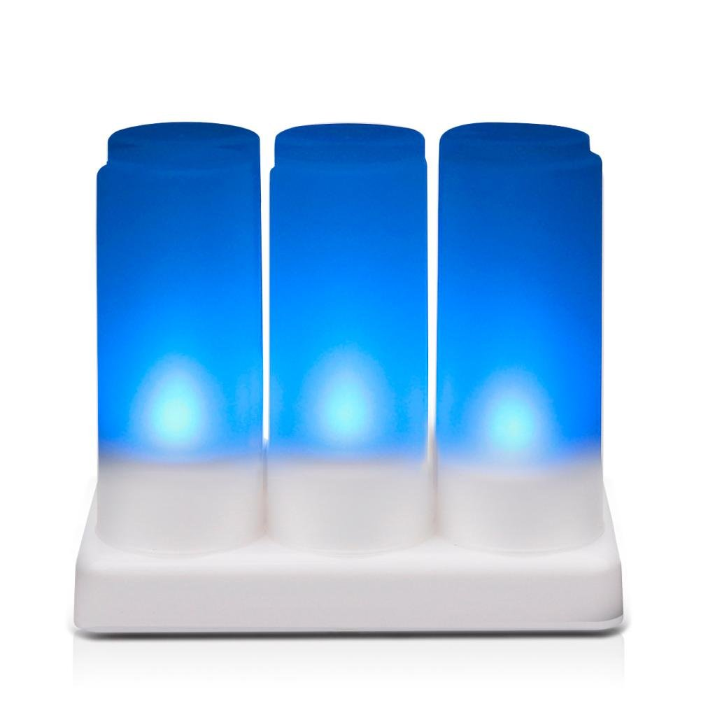 Zeshlla Rechargeable Candles Lights,7 Color Small Tea Candle Candle Flameless Candle Light Ideal For Wedding Restaurants,Coffee Shops,Hotel and Home