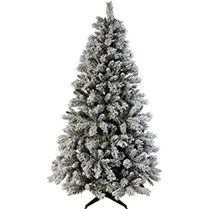 Christmas Tree Snow.Green Snow Covered Christmas Tree 6ft Amazon Co Uk