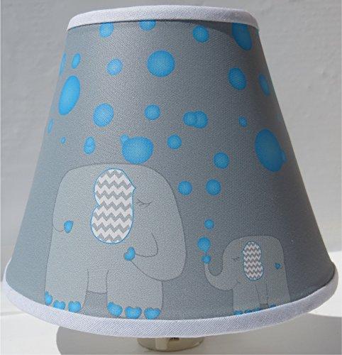 Elephant Night Lights with Blue Bubbles / Elephant Wall Decor