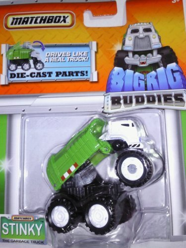 Matchbox Big Rig Buddies Stinky the Garbage Truck - Stinky The Garbage Truck Toys