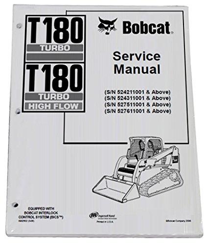 Bobcat T180 Track Loader Repair Workshop Service Manual - Part Number # 6902502 by Bobcat (Image #1)