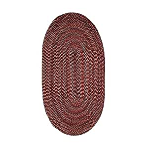 Braided Rugs Red Casual Comfort Nylon Braided Rug 8 X 11 USA