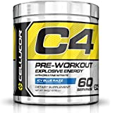 Cellucor C4 Pre Workout Supplements with Creatine, Nitric Oxide, Beta Alanine and Energy, 60 Servings, Icy Blue Razz, 13.75 Oz (390 g)
