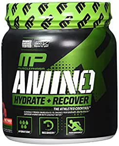 MusclePharm Amino 1 Sport Nutrition Powder, Fruit Punch, 30 Servings