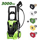 Best Electric Power Washers - guiok 3000 PSI Electric Pressure Washer 1800W High Review