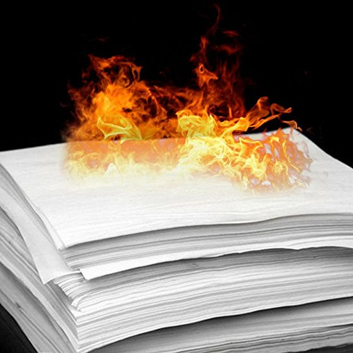 LEIZENG 1PCS Magic Stage Props Fire Flame To Rose Paper 20X50cm